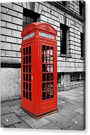 London Phone Booth Acrylic Print by Rhianna Wurman