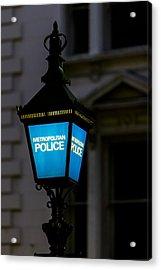 London Police Lamp Acrylic Print