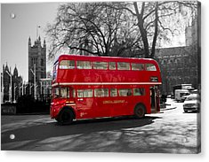 London Red Bus Acrylic Print
