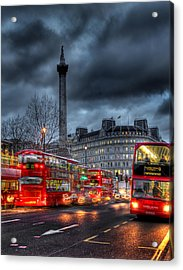 London Red Buses Acrylic Print