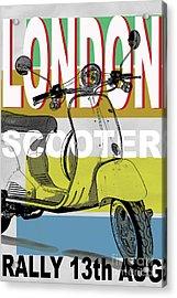 London Scooter Rally Acrylic Print by Edward Fielding