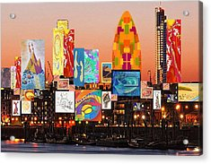 London Skyline Collage 2 Acrylic Print