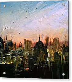 London Skyline Dawn Acrylic Print by Paul Mitchell