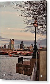 London Skyline From The South Bank Acrylic Print