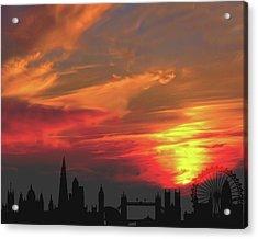 Sunset London Acrylic Print