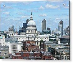 London Skyscrape - St. Paul's Acrylic Print by Mini Arora