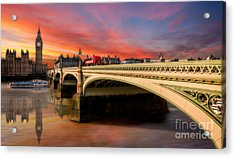London Sunset Acrylic Print