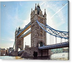 Acrylic Print featuring the photograph London - The Majestic Tower Bridge by Hannes Cmarits