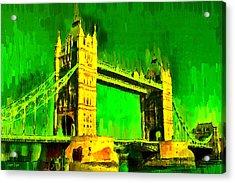 London Tower Bridge 17 - Da Acrylic Print by Leonardo Digenio