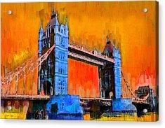 London Tower Bridge 2 - Da Acrylic Print by Leonardo Digenio