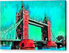 London Tower Bridge 5 - Da Acrylic Print by Leonardo Digenio