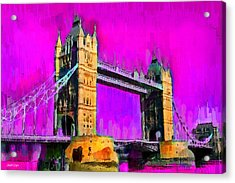 London Tower Bridge 9 - Pa Acrylic Print by Leonardo Digenio