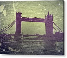 London Tower Bridge Acrylic Print by Naxart Studio