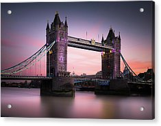 London, Tower Bridge Sunset Acrylic Print