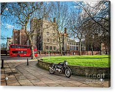 Acrylic Print featuring the photograph London Transport by Adrian Evans