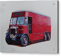 Acrylic Print featuring the painting London Transport Wrecker. by Mike Jeffries