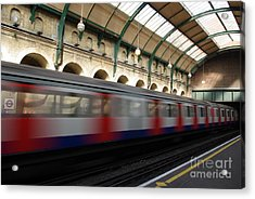 London Underground Acrylic Print by Catja Pafort