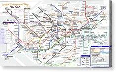 London Underground Map Acrylic Print