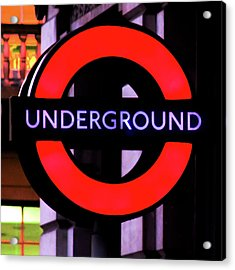 London Underground Sign Acrylic Print