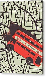 Londoners Travel Run Acrylic Print