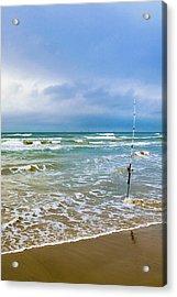 Lone Fishing Pole Acrylic Print