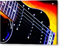 Acrylic Print featuring the photograph Lone Guitar by Baggieoldboy