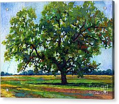 Acrylic Print featuring the painting Lone Oak by Hailey E Herrera