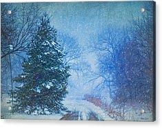 Lone Snowy Lane Acrylic Print