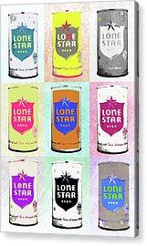 Lone Star Beer Pop Art Acrylic Print