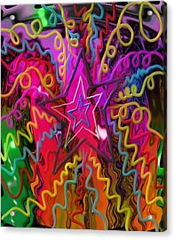Acrylic Print featuring the painting Lone Star by Kevin Caudill