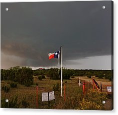 Lone Star Supercell Acrylic Print by Ed Sweeney