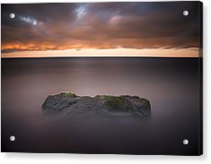Acrylic Print featuring the photograph Lone Stone At Sunrise by Adam Romanowicz