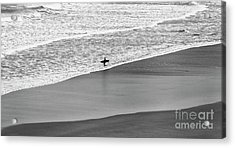 Acrylic Print featuring the photograph Lone Surfer by Nicholas Burningham