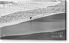 Lone Surfer Acrylic Print by Nicholas Burningham