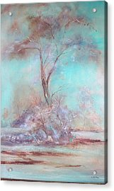 Lone Tree Acrylic Print by Lynda McDonald