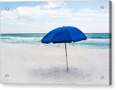 Lone Umbrella Acrylic Print by Shelby  Young