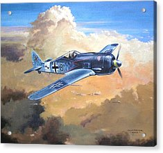 'lone Warrior Fw190' Acrylic Print by Colin Parker
