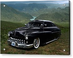 Lone Wolf 1949 Mercury Low Rider Acrylic Print by Tim McCullough