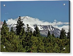 Lonely As God And White As A Winter Moon - Mount Shasta California Acrylic Print by Christine Till