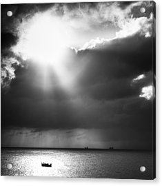 Lonely At Sea Acrylic Print