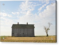 Lonely Barn Acrylic Print by Daniel Ness