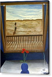 Lonely Beach Acrylic Print by Georgette Backs