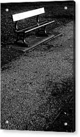 Lonely Bench Acrylic Print by Jez C Self