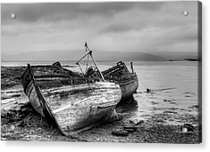 Acrylic Print featuring the photograph Lonely Fishing Boats by Michalakis Ppalis