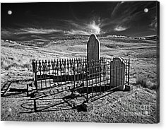 Lonely Graves Acrylic Print