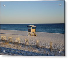 Lonely Lifeguard Acrylic Print by Navarre Photos