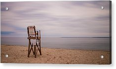 Lonely Lifeguard Acrylic Print by Paul Treseler