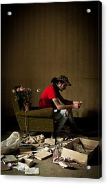 Lonely Luster Acrylic Print by Luigi Montebello