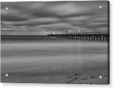 Lonely Morning At The Pier Acrylic Print by Andres Leon