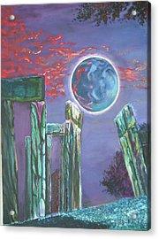 Lonely Night Acrylic Print by Joanna Soh
